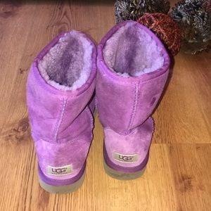 Ugg purple ankle boots size 8